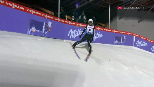Skok Piotra Żyły z 2. serii konkursu w Wiśle