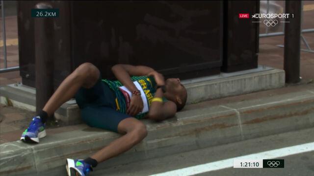 Tokio. Problemy Brazylijczyka Do Nascimento na trasie maratonu mężczyzn
