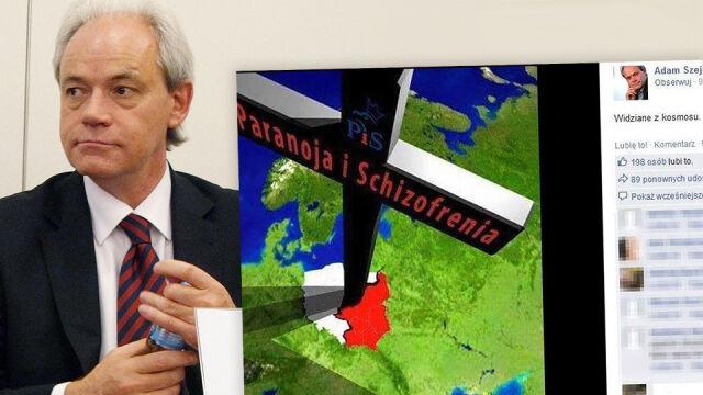 """""""PiS. Paranoja i Schizofrenia"""". Zawiadomienie do prokuratury po wpisie Szejnfelda"""