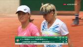 Świątek i Mattek-Sands przełamane po raz drugi w 3. secie meczu 3. rundy French Open