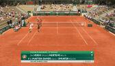 Hsieh i Mertens wygrały 1. seta w starciu z parą Świątek/Mattek-Sands w 3. rundzie French Open