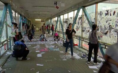 W Hongkongu propekińscy lojaliści usuwają ściany Lennona