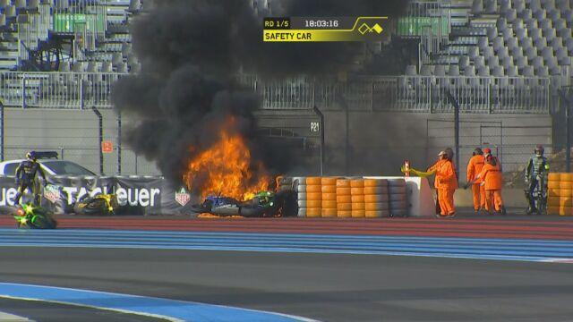 Wielki pożar w 24-godzinnym wyścigu. Trzy ekipy wycofały się