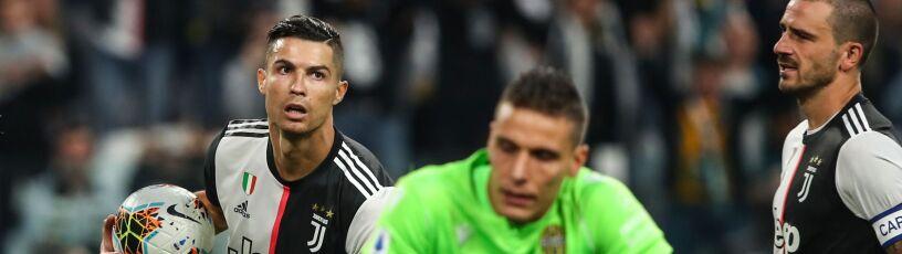 Juventus miał kłopoty, ale uratował go Ronaldo. Szczęsny tylko na ławce