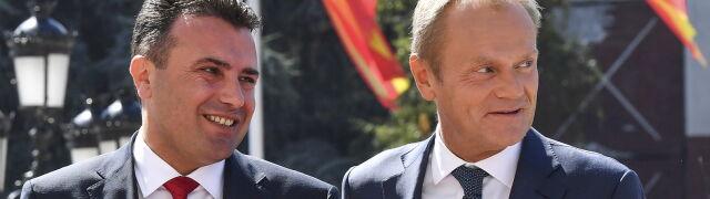 Tusk w Skopje i Tiranie. Chce rozmów akcesyjnych z Macedonią Północną i Albanią