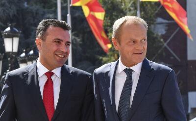 Tusk złożył wizytę w Skopje