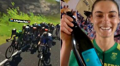 Tęcza na urodziny. Moolman Pasio pierwszą w historii mistrzynią świata w e-kolarstwie