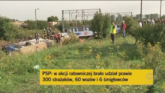 W akcji uczestniczyło ok. 300 strażaków. Działania zostaną wznowione rano (TVN24)