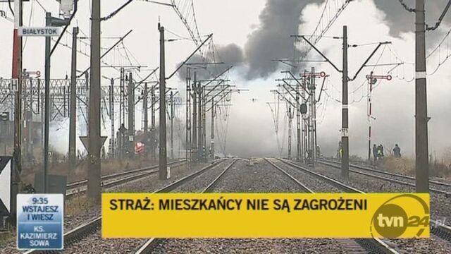 Dogaszanie pożaru (TVN24)