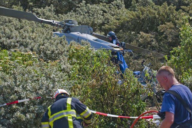 Helikopter spadł na trasie rajdu