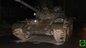 Drunk man was driving a tank through the streets of Pajęczno