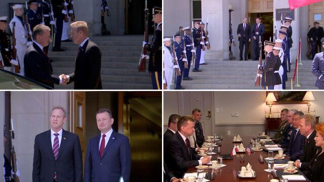 """Błaszczak w Pentagonie. """"Prezydenci obu państw ogłoszą bardzo dobrą wiadomość"""""""