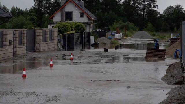 Kilkanaście zalanych domów na Dolnym Śląsku