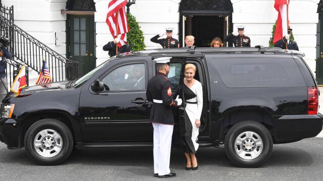 Powitanie polskiej pary prezydenckiej w Białym Domu