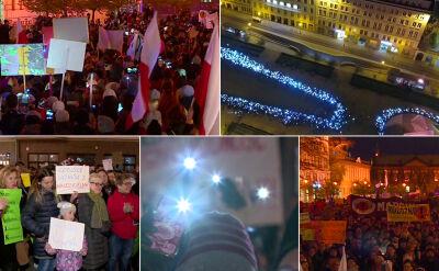 Wiece poparcia dla nauczycieli. W Poznaniu zgromadzeni zatańczyli poloneza