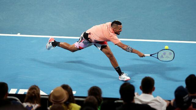 Niesamowity Kyrgios , zaskoczony Monflis. Najlepsze zagrania 6. dnia Australian Open