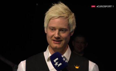 Robertson po triumfie w European Masters