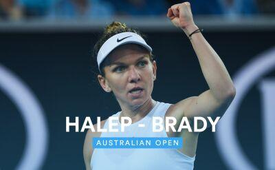 Skrót meczu Brady - Halep w 1. rundzie Australian Open