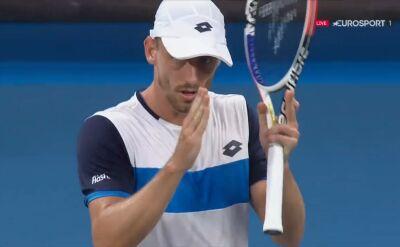 Najciekawsze momenty 2. seta meczu Hurkacz - Millman w 2. rundzie Australian Open