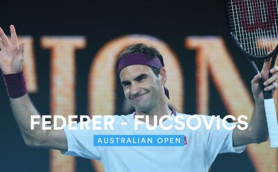 Skrót meczu Federer - Fucsovics w 4. rundzie Australian Open