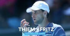 Skrót meczu Fritz - Thiem w 3. rundzie Australian Open