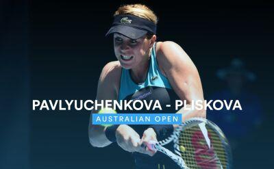 Skrót meczu Pawluczenkowa - Pliskova w 3. rundzie Australian Open