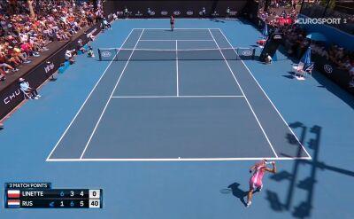 Linette przegrała z Rus w 1. rundzie Australian Open