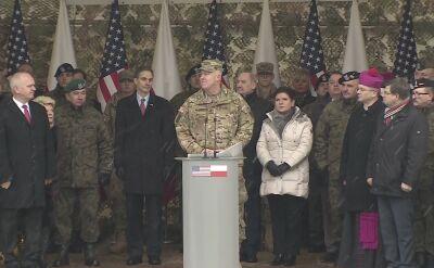 Gen. McGuire: amerykańscy żołnierze są dumni z obecności w Polsce