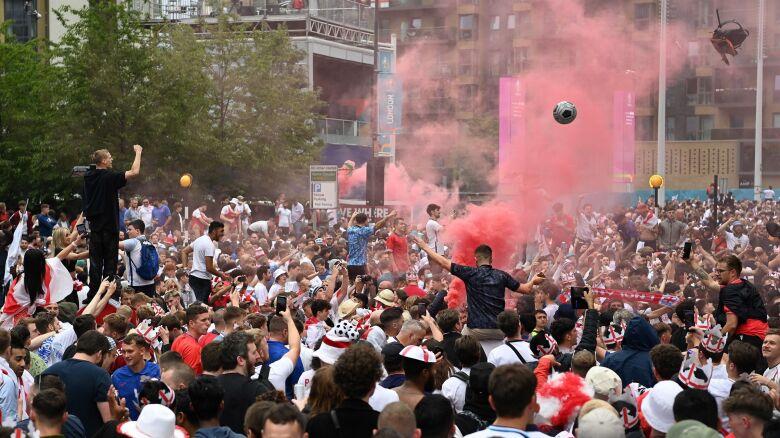 Szokujące sceny na Wembley. 45 kibiców aresztowanych po finale Euro