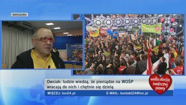 Jurek Owsiak o tym czym jest dla niego WOŚP (TVN24)