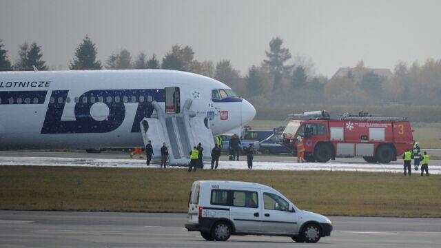 Boeing bezpiecznie wylądował (TVN24/PAP/Jacek Turczyk)