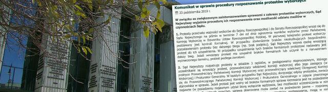 """""""Mniej więcej w okolicach 30-40 dnia"""". Sąd Najwyższy o rozstrzyganiu protestów wyborczych"""
