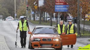 Policjanci testowali hamulce auta