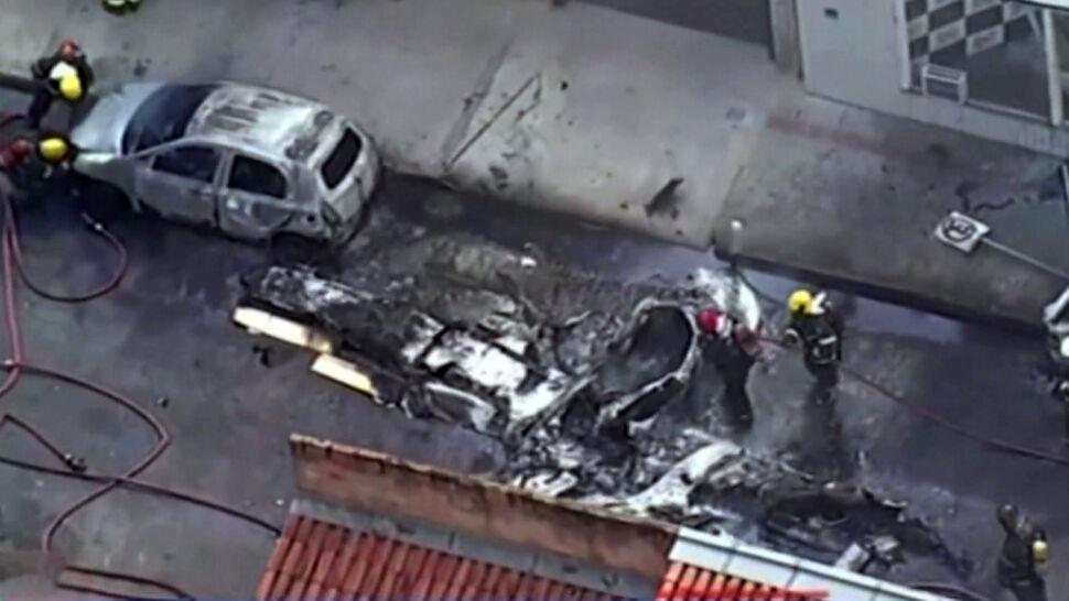 Drugi samolot w ciągu roku spadł na tę samą ulicę brazylijskiego miasta