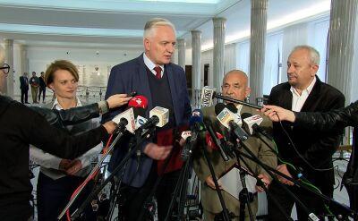 Gowin: nie ma takiego domniemania, że głosy nieważne powinny być przypisane do konkretnej partii
