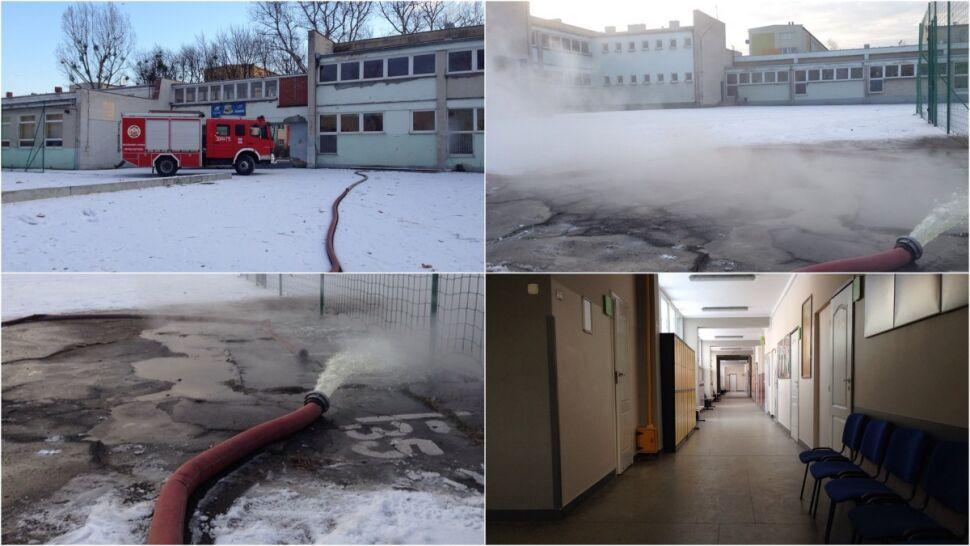 W szkole z powodu mrozu popękały rury. Zajęcia odwołano, uczniowie wrócą w czwartek