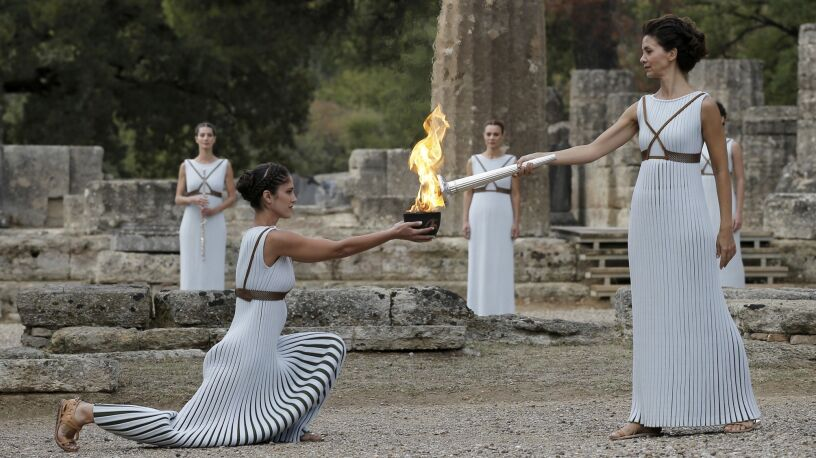 Ceremonia odpalenia ognia olimpijskiego bez widzów. Pierwszy raz od 35 lat