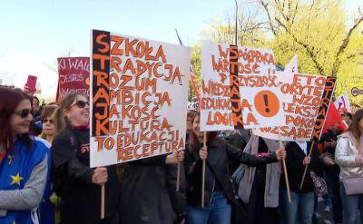Demonstracje nauczycieli w całym kraju