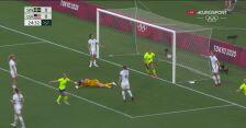 Piłka nożna kobiet. Szwecja-USA. Gol Szwedek na 1:0