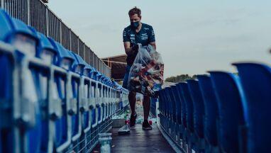 Gwiazdor Formuły 1 zbierał śmieci po zawodach.