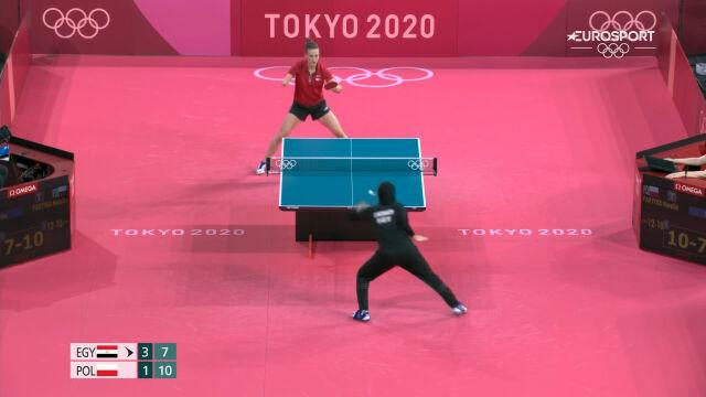 Tokio. Partyka wygrała 5. seta w starciu z Meshref w 2. rundzie turnieju tenisa stołowego