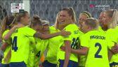 Piłka nożna kobiet. Szwecja-USA. Gol Szwedek na 2:0
