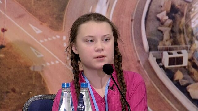 Greta Thunberg, Swedish teenager on strike for climate, said on Monday that more action was needed rather than hope in order to make an impact