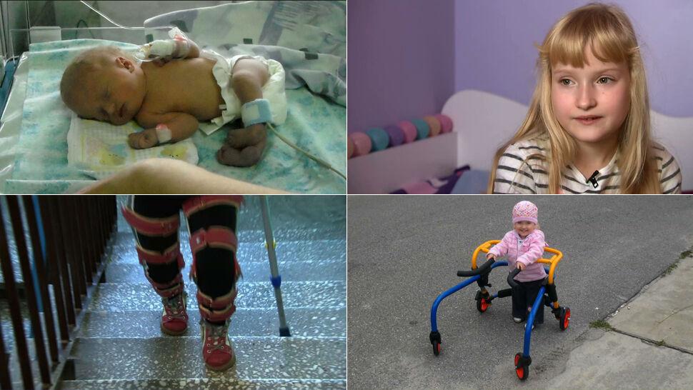 Miała nie chodzić, walczyła o każdy krok. Mała dziewczynka o wielkiej sile