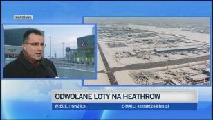 Rzecznik lotniska Fryderyka Chopina o sytuacji w Warszawie (TVN24)
