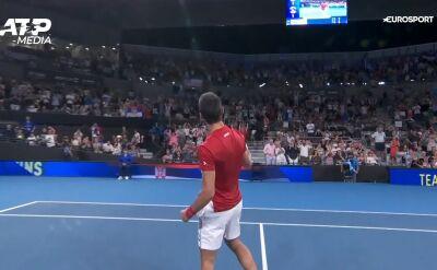 Djoković pokonał Andersona, Serbia lepsza od RPA w ATP Cup