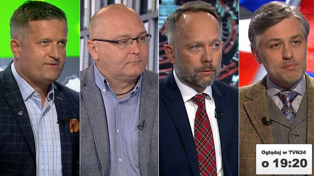"""Krzysztof Liedel, Jarosław Stróżyk, Tomasz Płudowski, Jarosław Kuisz goścmi """"Faktów po Faktach"""""""