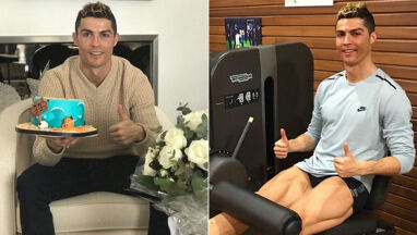 Tort, róże i siłownia. Ronaldo świętował urodziny