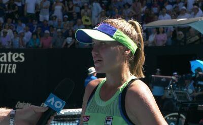 Kenin po awansie do finału Australian Open
