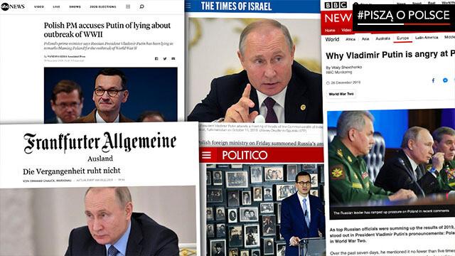 Zachodnie media o słowach Władimira Putina pod adresem Polski i Zachodu. #PisząoPolsce